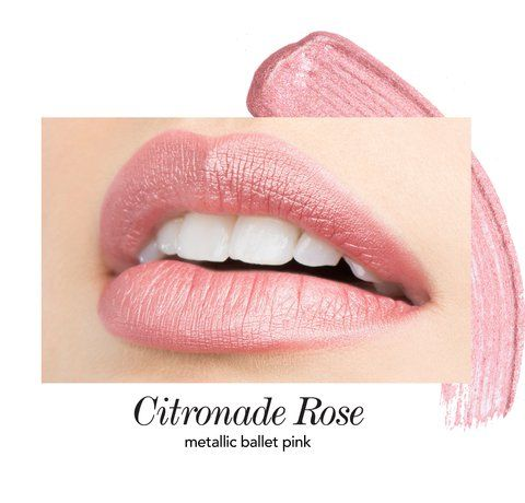 Citronade Rose Long-Wear Lip Crème Liquid Lipstick By Jouer Cosmetics - This weightless, long-wear liquid lipstick offers full coverage color with a soft-touch finish that glides on smoothly and lasts all day. Citronade Rose is a metallic ballet pink shade.