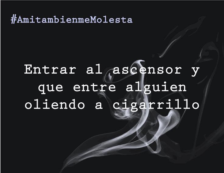#AmitambienmeMolesta Campaña en contra de los que fuman