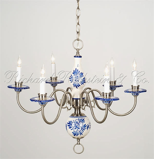 Beautiful Delft Chandelier I Just Found One Of These At A Yard An Estate Wiring Is Gone Chandeliers And Other Lighting