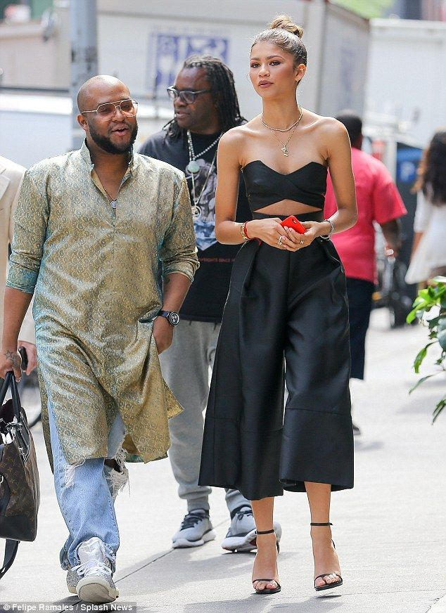 Crew: Joining her on Wednesday's outing was Zendaya's longtime personal stylist, Law Roach...