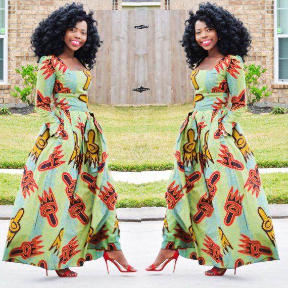 African Clothing Maxi Dress Ankara Print, Maxi Dress African Print, Women Dress, African fashion print