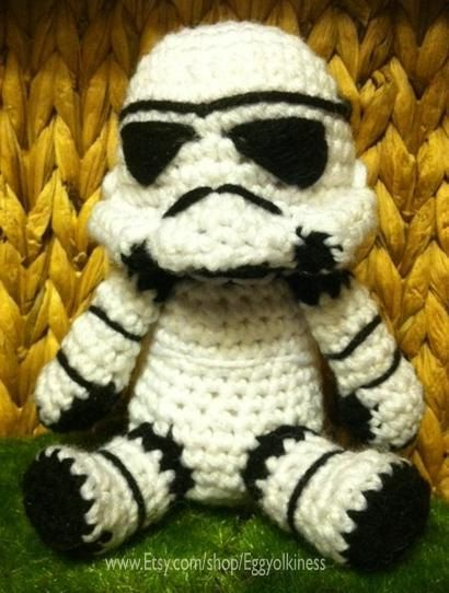 crochet #StormTrooper How cute is this guy!?