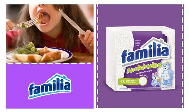 Enseñarle buenos hábitos a tu familia es tan fácil como acostumbrarlos a usar Servilletas Familia® todos los días en todas las comidas.
