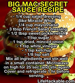 big mac sauce for him when he just really wants a nasty bigmac