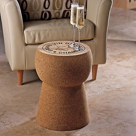 Giant Champagne Cork Stool/Table - Wine Enthusiast.     (my personal images are used in my audio e-books for children 3-7 and Illustrative Poetry, available at www.jamesagrove.ca)