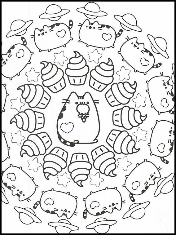 Pusheen 34 Printable Coloring Pages For Kids Cute Coloring Pages Coloring Books Coloring Pages