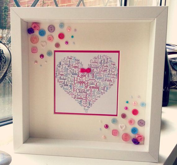 Personalised Word Art Heart or Star by EternallyLovedGifts on Etsy