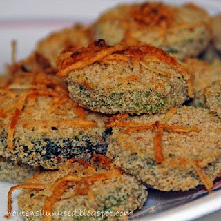 Oven Fried Parmesan Zucchini Chips- Great with burgers instead of fries!