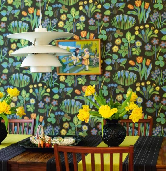 Go mega bold on the walls.  Josef frank wallpaper.