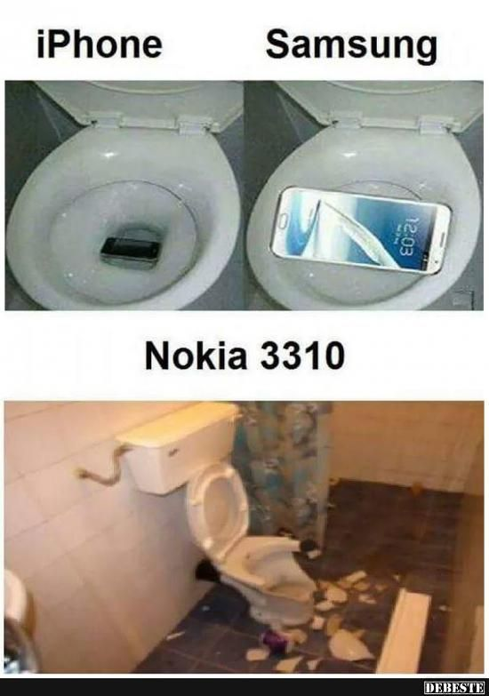 iPhone vs. Samsung vs. Nokia 3310