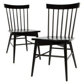 Windsor Dining Chair (Set of 2) - Threshold™ Black, white, or gray