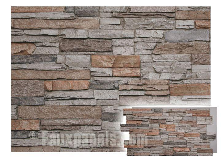 Norwich Colorado Stacked Stone Motley Gray Panel