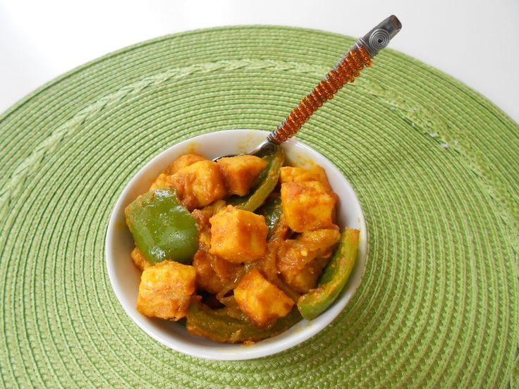 Simla Mirch & Paneer ( Bell Peppers & Indian Cheese)