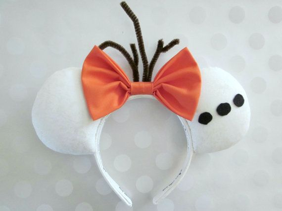 Olaf Inspired Mouse Ears Headband Custom Ears by EarsComeTrue