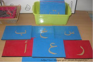 Au temps qui passe... العصر: Lettres rugueuses arabes