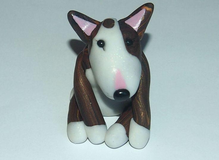 A customised Bull Terrier figurine based on my friend's beautiful Bullie :-)