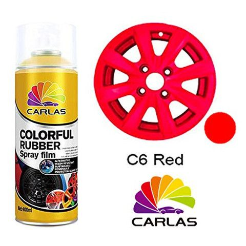 Carlas 'COLOURFUL RUBBER' Spray Paint - RED 400ml Can - Taxi-Mart Shop