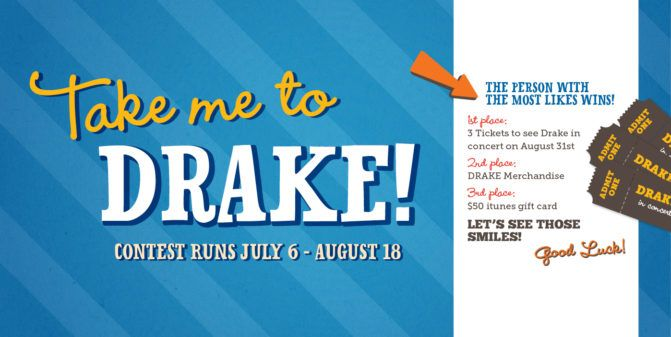 Win Drake concert tickets in our selfie contest! #dentistry #smile