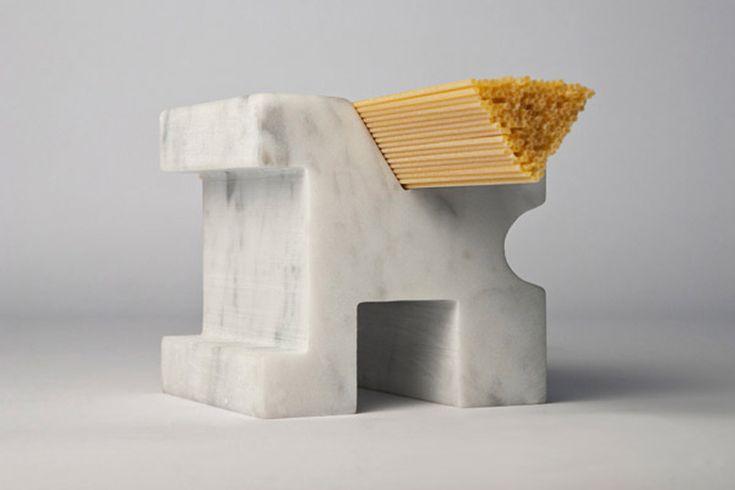 marble dry stock spaghetti measurments by studio lievito - designboom | architecture & design magazine
