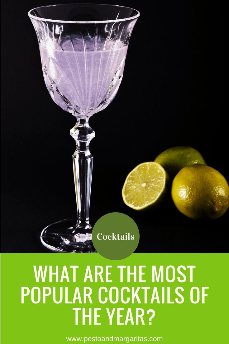 If you arranging a party and want to serve a few drinks then looking at the most popular cocktails of the year is a good place to start