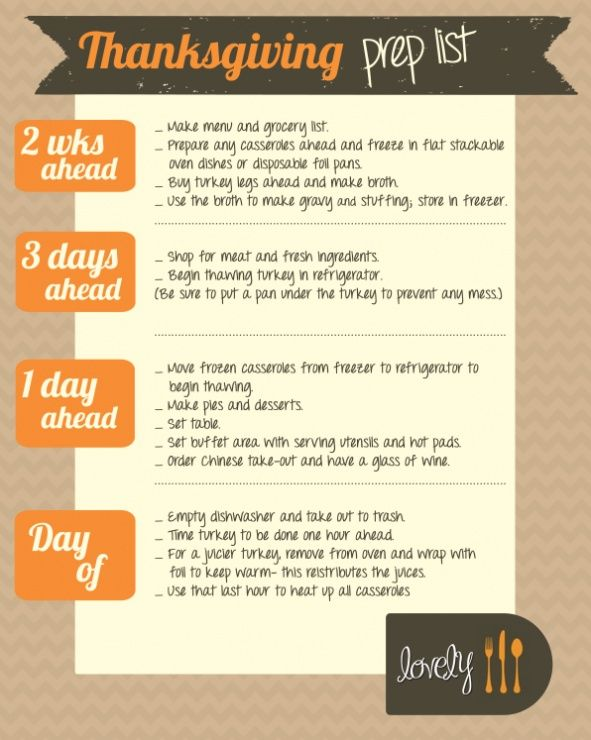 269 best Thanksgiving Dinner Checklist images on Pinterest Drink - christmas preparation checklist