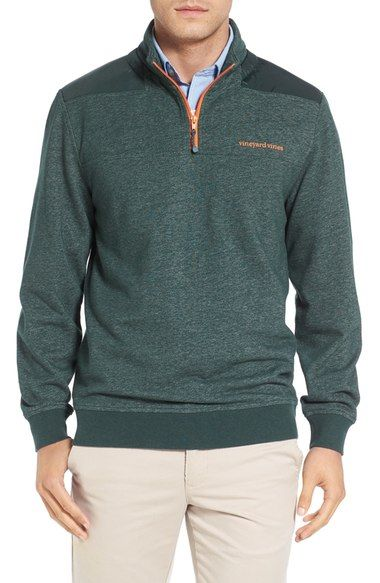Vineyard Vines 'Shep' Performance Heathered Quarter Zip Pullover available at #Nordstrom