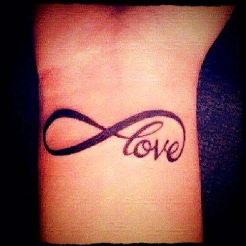 Tattoo Designs Love: Love Infinity Tattoo On Wrist