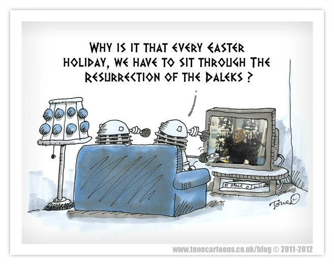 Reseurrection of the Daleks: Doctors Who Torchwood, Dalek Empire, Funny Cartoon, Daily Dalek, Doctors Whotorchwood, Dalek Funny, Cartoon Easter, Hands Crafts, Resurrection Of The Dalek