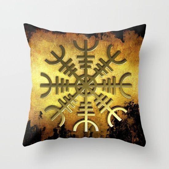 Aegirshjalmur 2 - protective symbol  #art #design #interior #homedecor #3dart #throwpillow #cushion #design #exclusive #viking #celtic #norway #iceland #aegirshjalmur #pillow