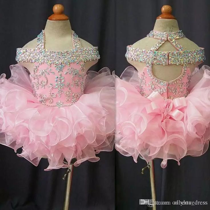 2016 Toddler Pageant Dresses Pink Organza Cupcake Kids Prom Gowns Crystal Beaded Open Back With Bow Formal Little Girls Birthday Party Dress Girls Yellow Dresses Little Rosie Pageant Dresses From Alberta_dress, $56.09| Dhgate.Com