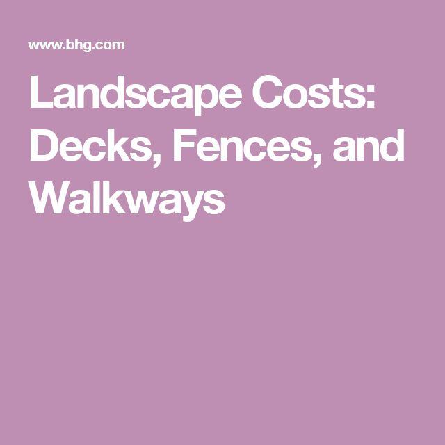 Landscape Costs: Decks, Fences, and Walkways