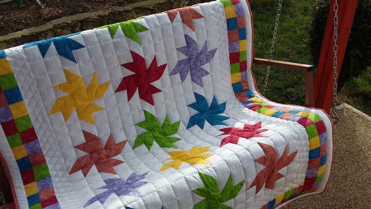 patchworková+deka+deka+je+190+x+135+je+ušita+ze+100%+bavlny+české+vároby.