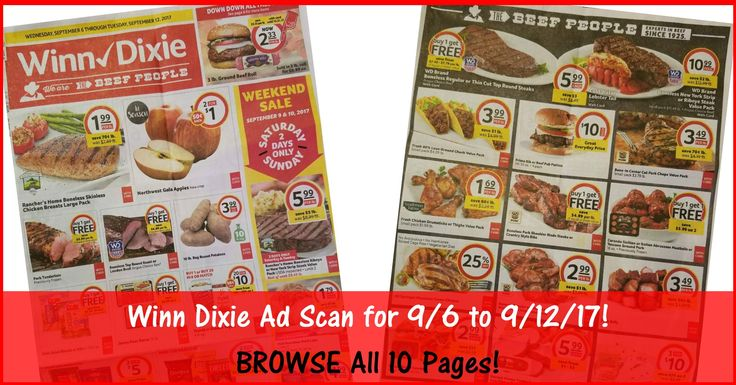 Who is ready to start working on their Winn Dixie Shopping List for 9/6? Click the Picture below to BROWSE all 10 Pages of the Actual Winn-Dixie Ad Scan for 9/6 to 9/12/17 ► http://www.thecouponingcouple.com/winn-dixie-weekly-ad-scan-9-6-17/  Visit us at http://www.thecouponingcouple.com for more great posts!