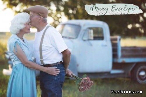 Трогательная фотосессия в честь 57-летия со дня свадьбы
