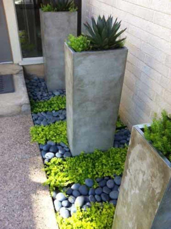 schöner garten beton kübel