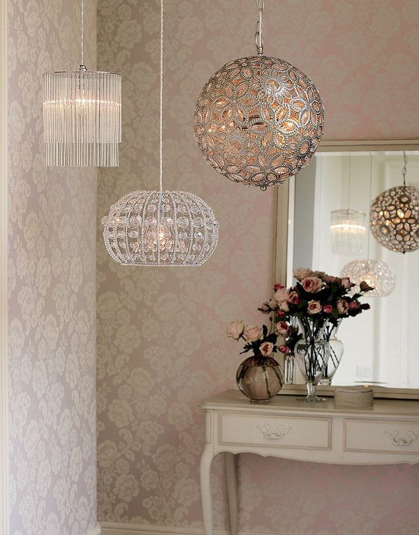 Love the light pendants!   I can see something like this in my master closet or in a little girls nursery
