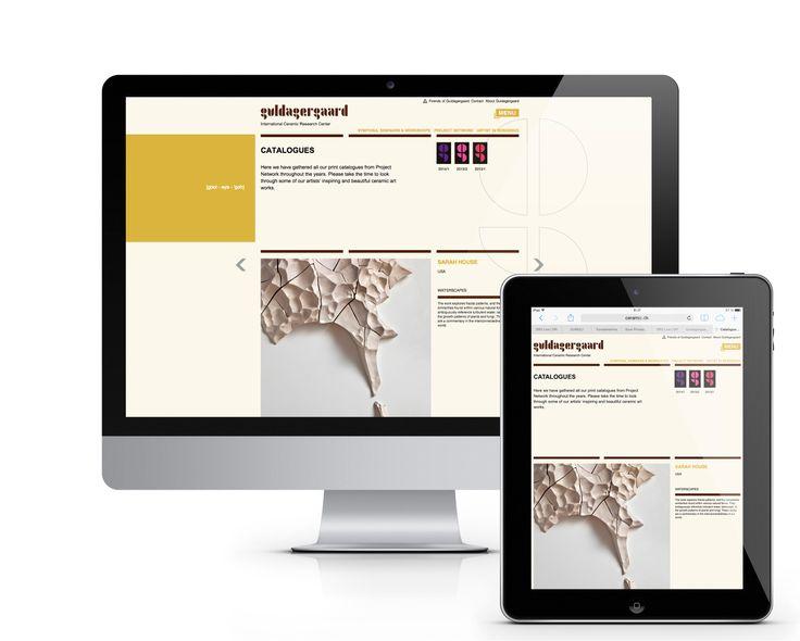Deltagerne på Project Network kommer alle fra Guldagergaard med et katalog – i trykt og digital version. Websitets enkle oversigt viser katalogerne retrospektivt med swipe-funktion mellem værkerne på iPad og mobil.