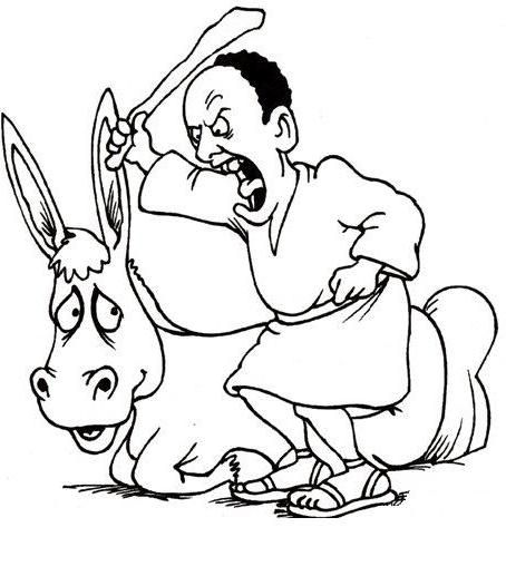 Balaam\'s Talking Donkey Coloring Page. Balaam – Prophet for Hire ...