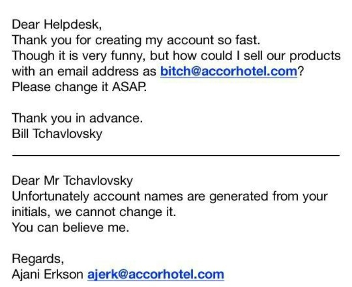 Funny Email