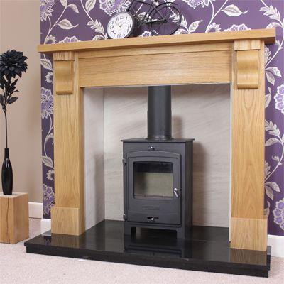 Capped Corbel Oak Fireplace Surround