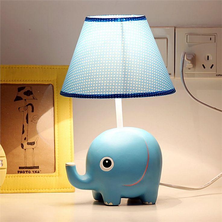 テーブルランプ 卓上照明 読書灯 子供屋用照明 小象型台座