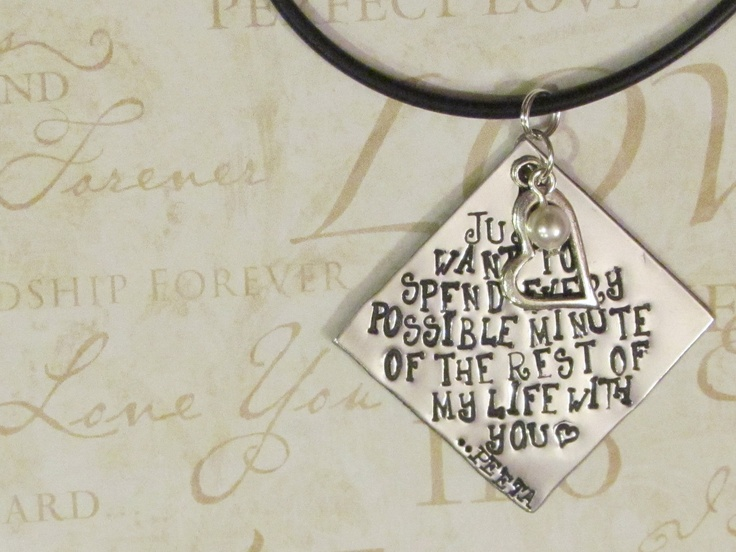 HUNGER GAMES  Inspired - Hand Stamped Jewelry - PEETA Necklace. $20.00, via Etsy.