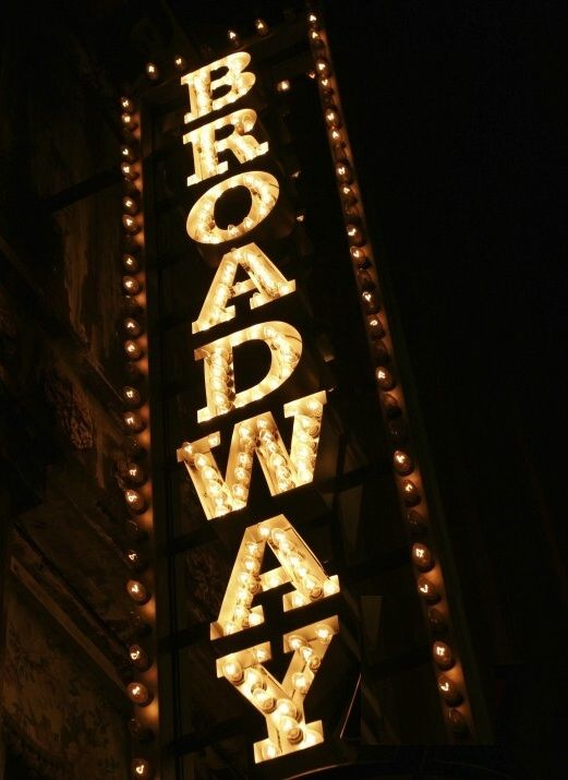 Broadway sign ~  I love seeing live musicals and theatrical dramas!  My parents introduced me to them at a young age and I've been enjoying them ever since.