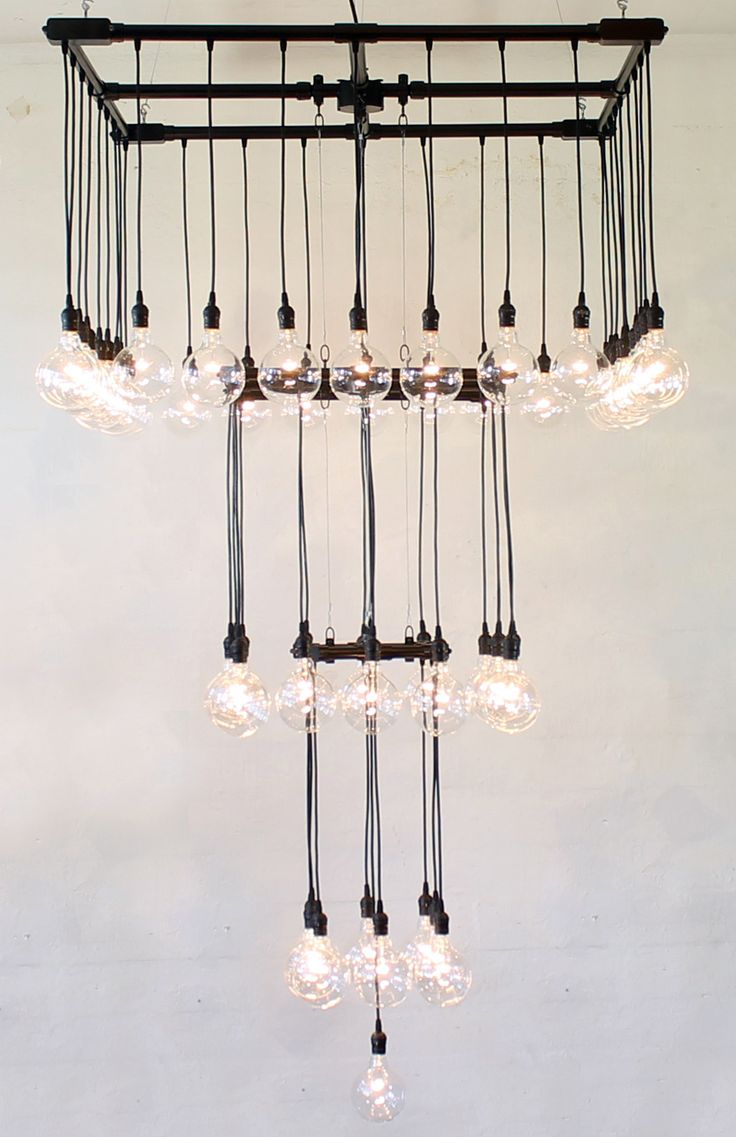 Repurposed Pipe Industrial Chandelier
