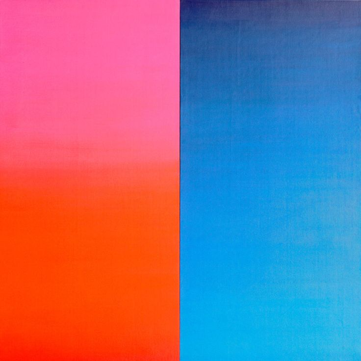 Anton Stankowski - Warm-Cold 1988, 180 x 180 cm Acrylic on canvas