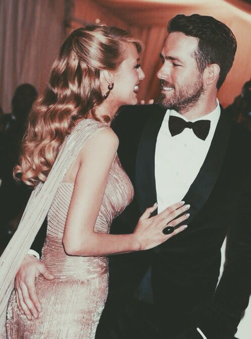 Blake Lively and Ryan Reynolds. Beautiful celebrity couple