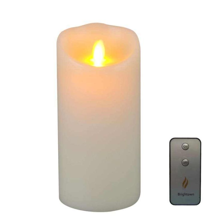 "Luminara Moving Wick Flameless Vax Candle Timer Remote Included Vanilla 7"" NEW #candle #vanilla #vax #flameless #deals #sales #ebay"