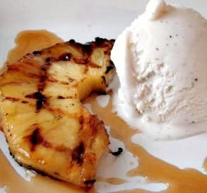 "Grilled Pineapple with Rum Sauce: ""If you like pineapple upside-down cake, you will love this recipe. It's best served hot with vanilla ice cream."" -Catfish Charlie"