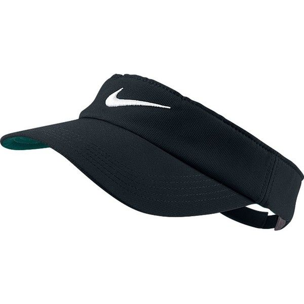 Nike Tech Swoosh Visor (£12) ❤ liked on Polyvore featuring accessories, hats, visor hats, sun visor, nike, sun visor hat e bucket hats