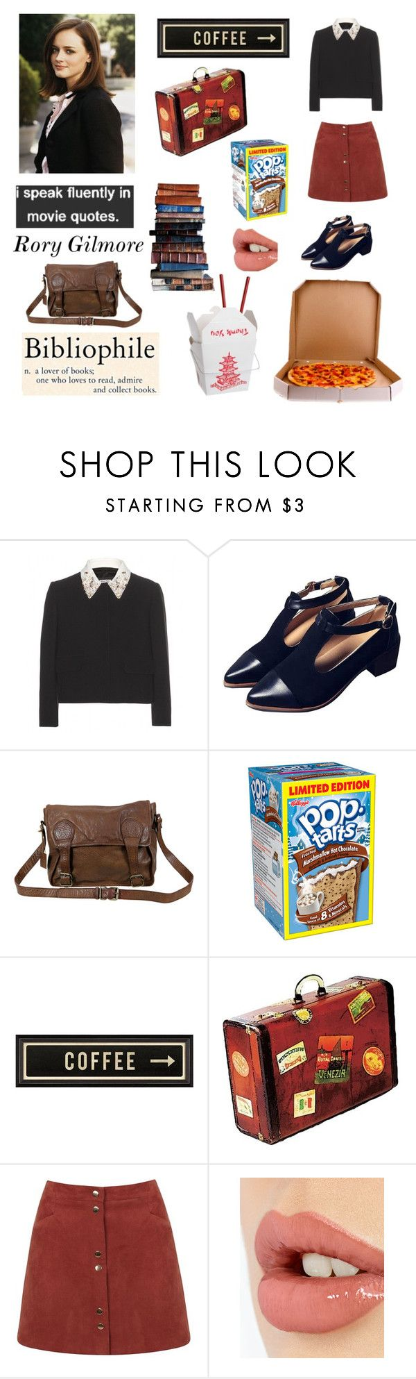 """""""Rory Gilmore"""" by barbiedollgrunge ❤ liked on Polyvore featuring Miu Miu, KEEP ME, VIPARO, xO Design, Spicher and Company, Mark's Tokyo Edge, Miss Selfridge, Charlotte Tilbury, women's clothing and women"""